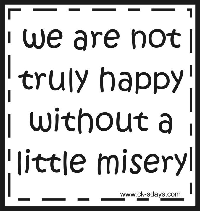 happy - misery