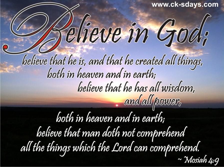 Believe in God | ck's days