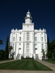 Saint George, Utah Temple and I walked all the way around it...