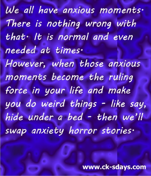 Anxiety sufferer