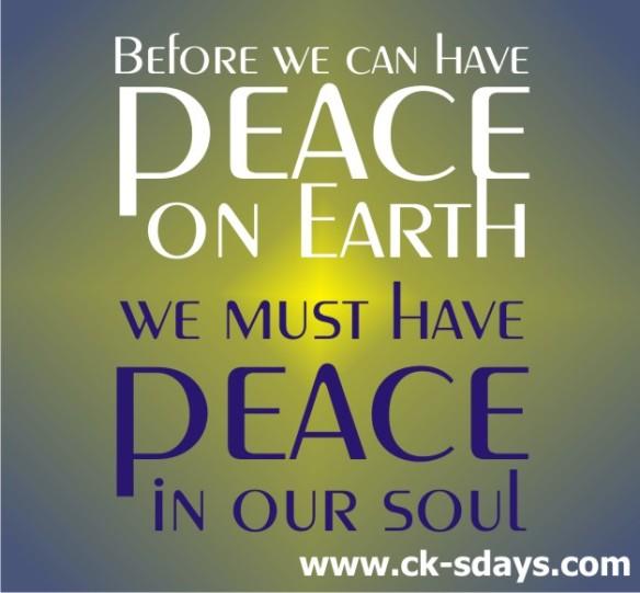 peace on earth peace in soul