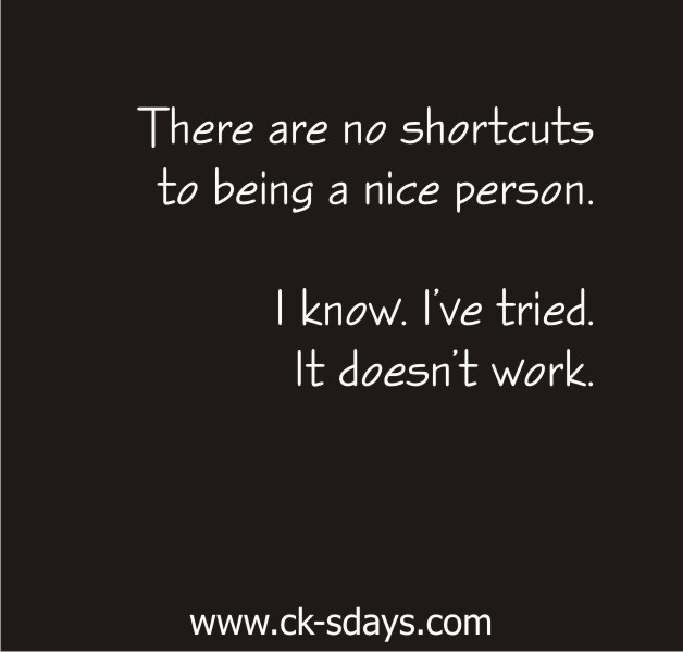 shortcuts to nice person