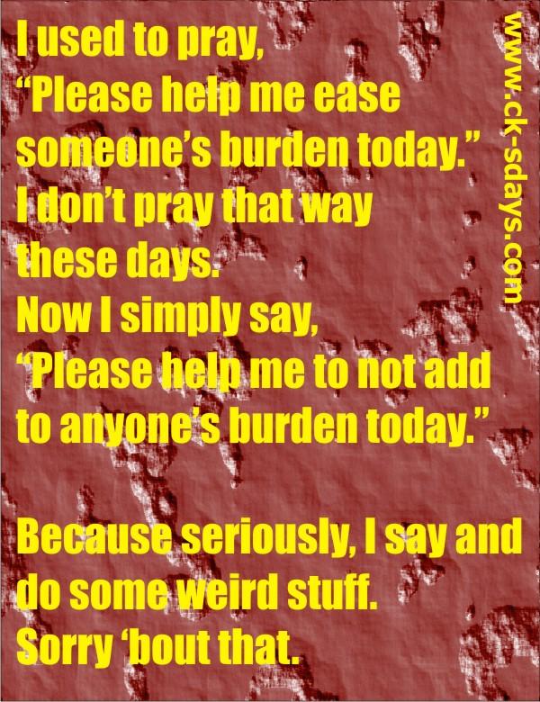 burden prayer