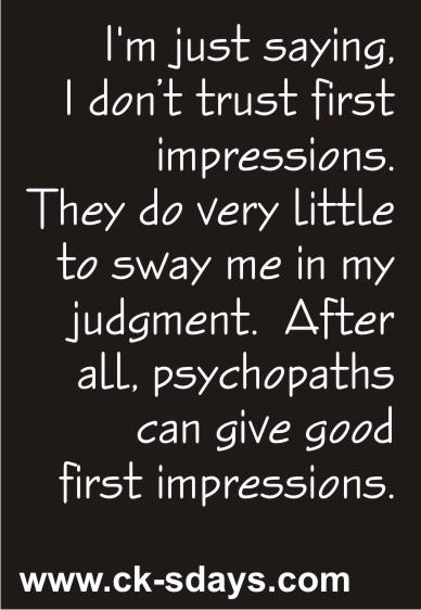 first impressions II