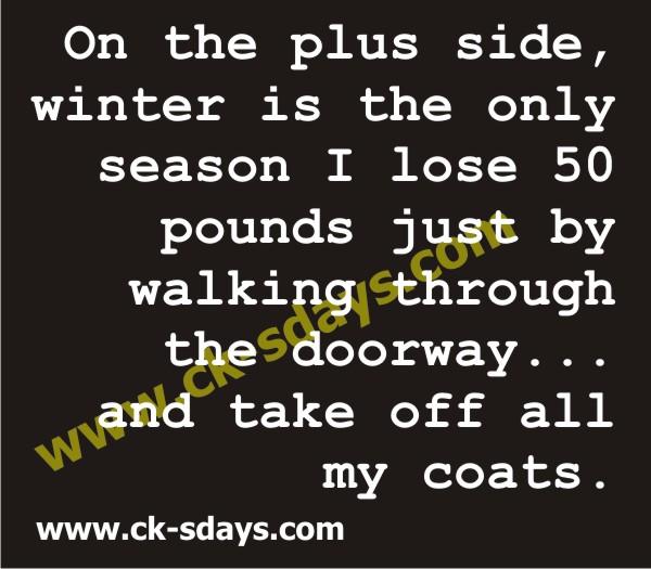 plus side of winter