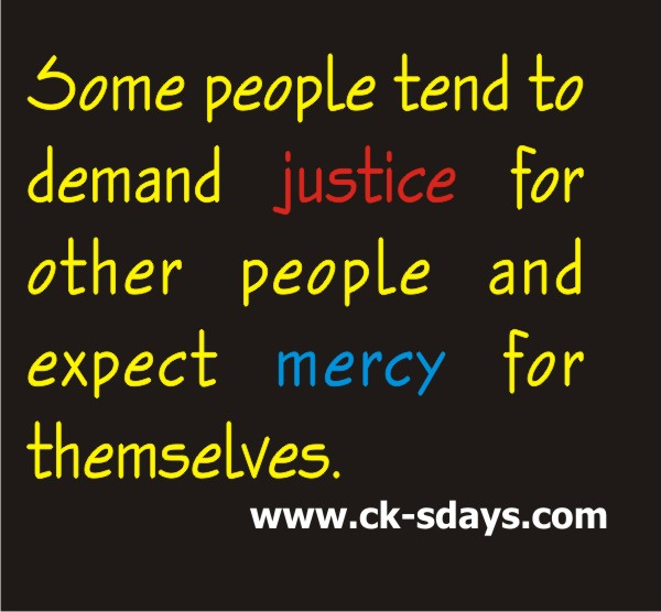 justice vs mercy