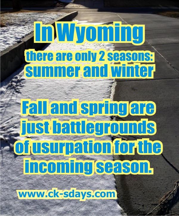 springtime in Wyoming