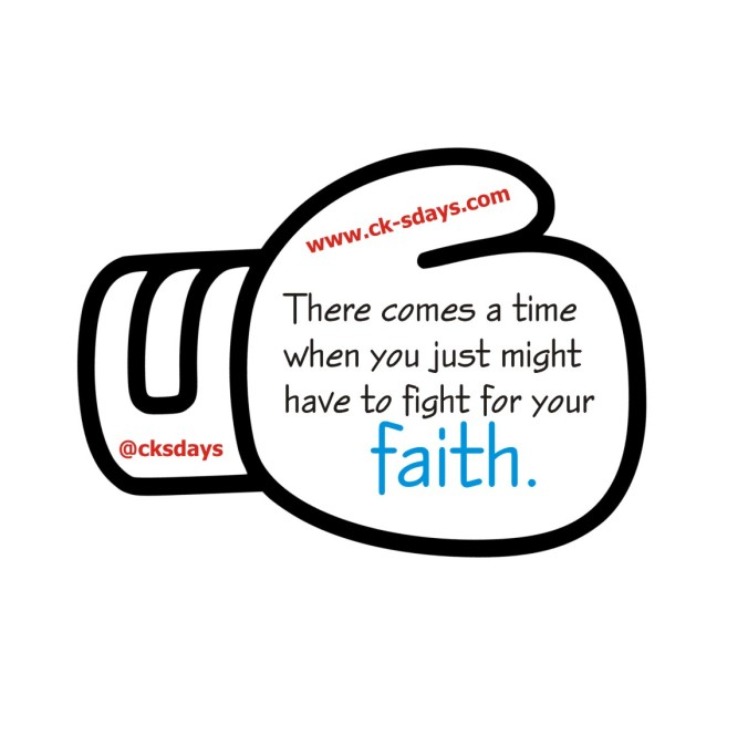 fight for your faith