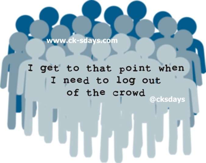 log out of crowd