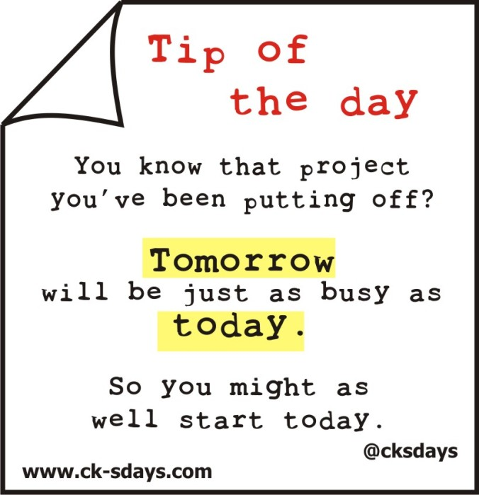 tip of the day procrastination