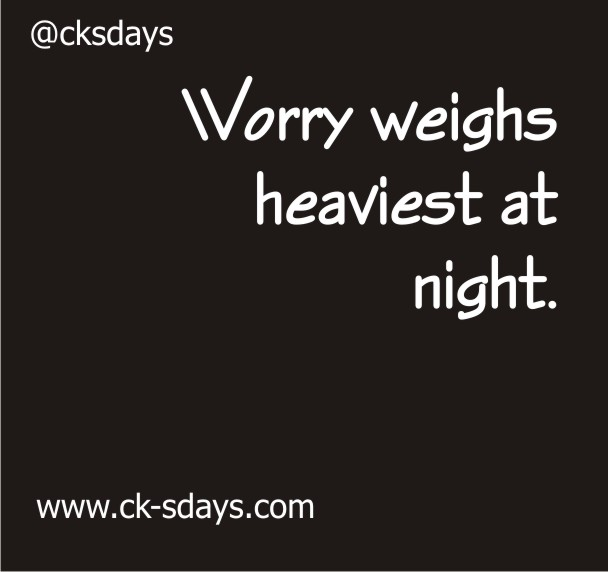 worry weighs