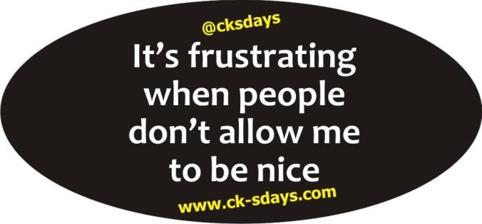 let me be nice