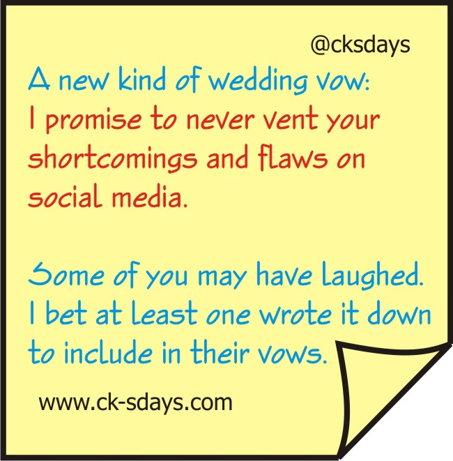 new kind of wedding vow