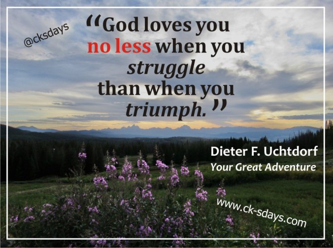 God loves you no less Uchtdorf